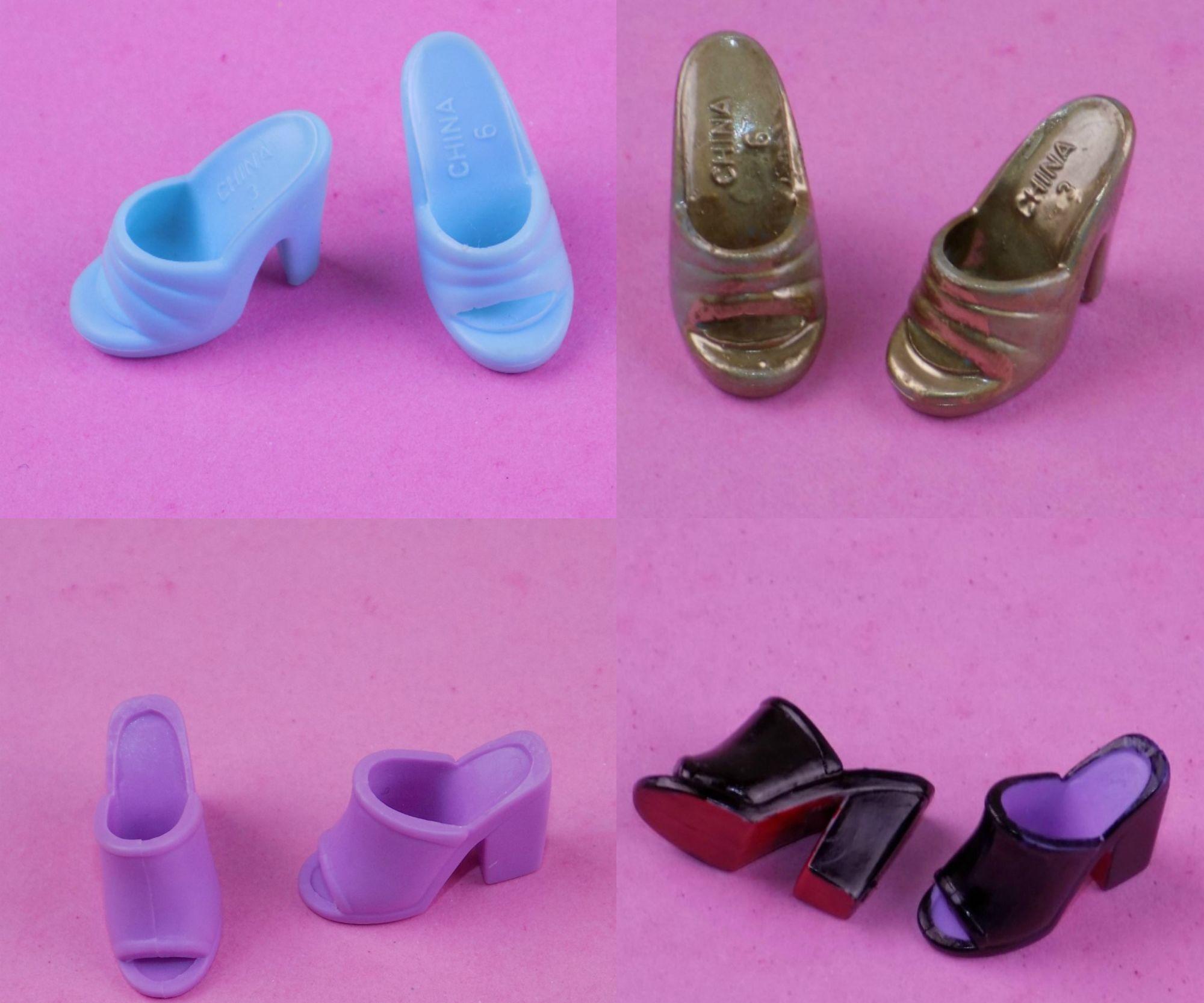 Diy custom barbie doll shoes
