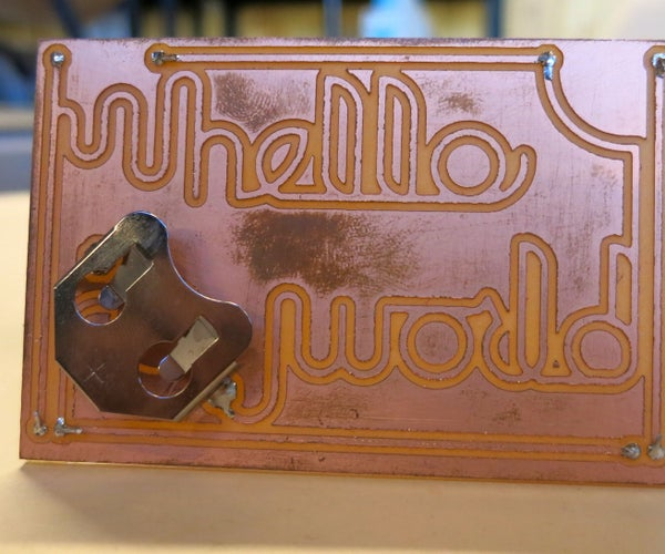 Hello World: Build a Simple Circuit With the Othermill