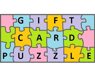 Gift Card Puzzle!!!