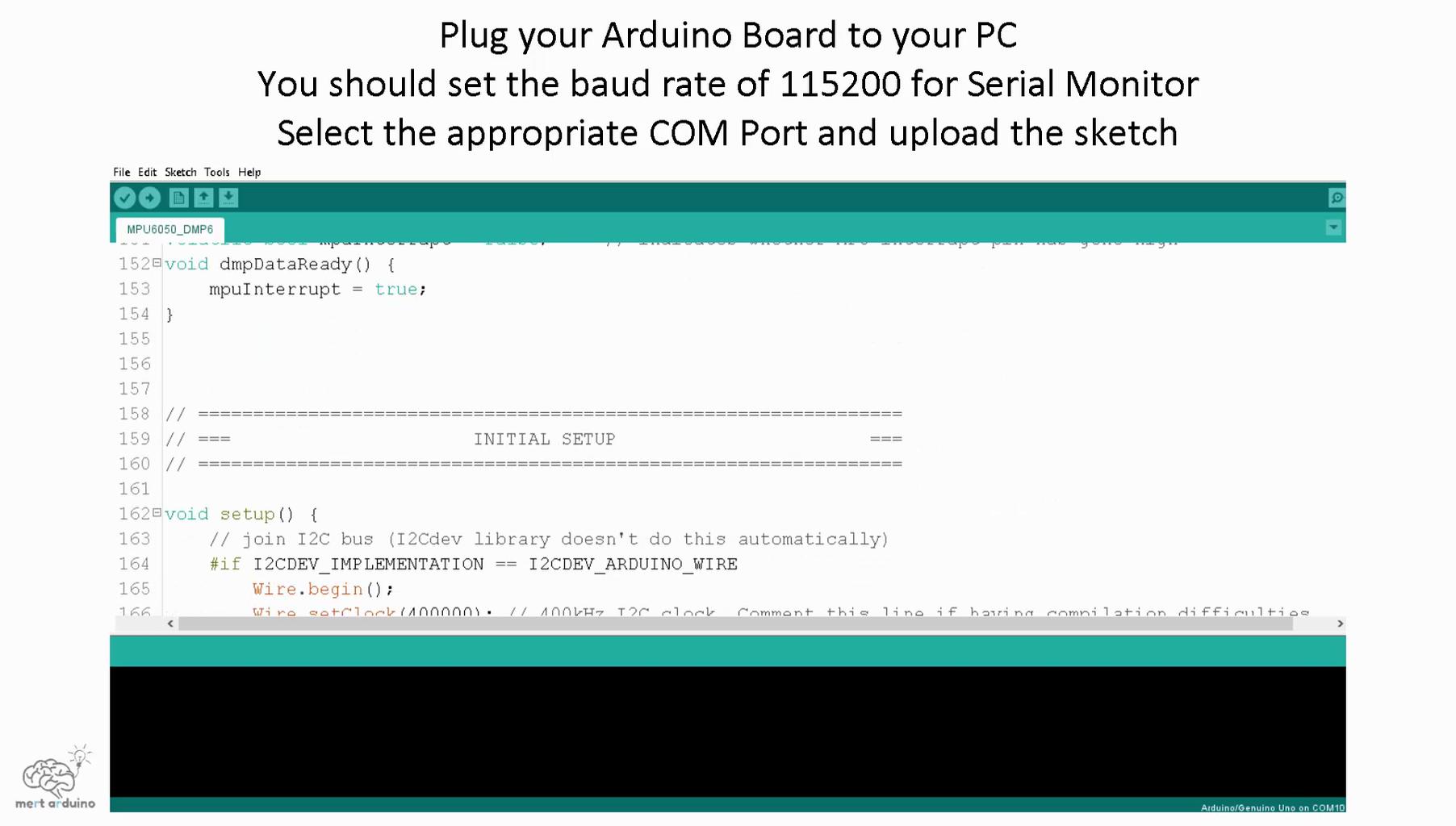 Uploading the Code and Testing the MPU6050
