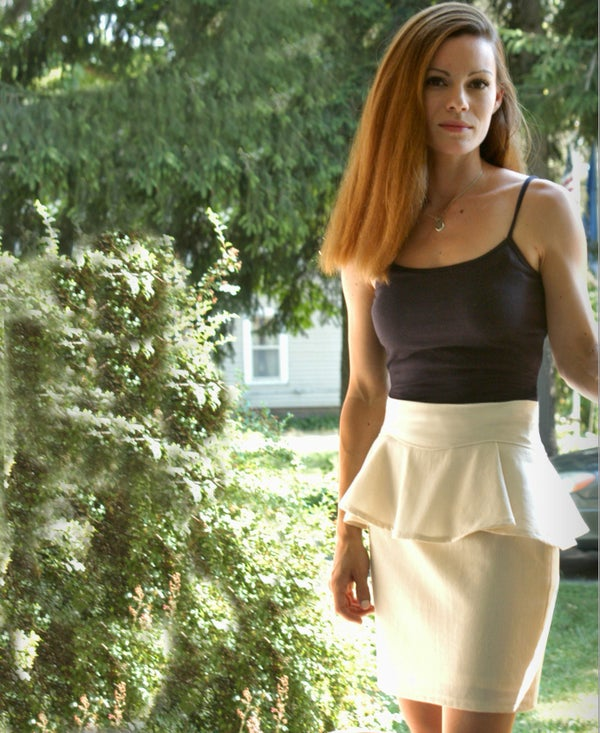 Removable Peplum Skirt Two Ways