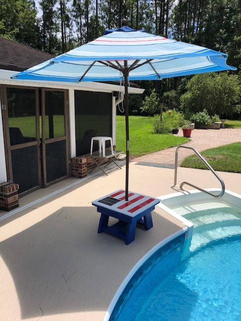 Side Table Umbrella Stand