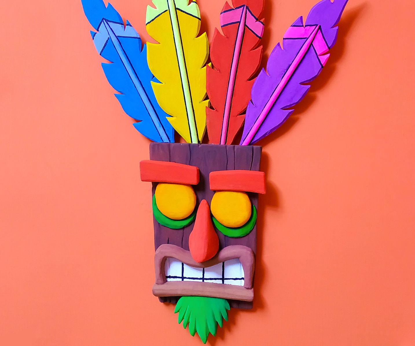 Wooden Aku Aku & Uka Uka Masks