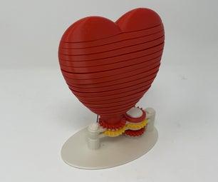 为我的情人打印的3D印刷动画情人节心!