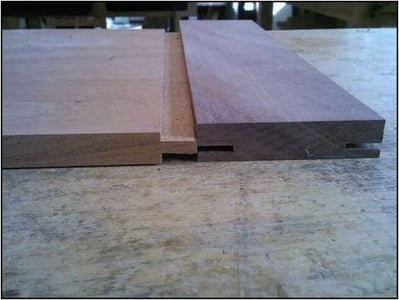 Cutting the Groove in the Breadboard End