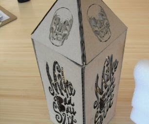 How I Made a Cool Cardboard Lantern - I Made It at Techshop Detroit!