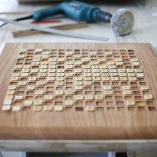 Hardwood CNC Scrabble Board