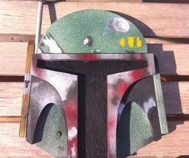 Build a Star Wars Boba Fett Plywood Wall Plaque