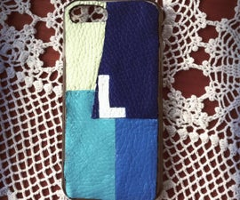 Personalized Phone-case With Leather Scraps