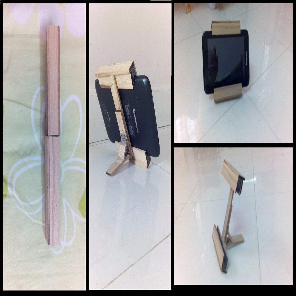 Foldable Wooden Tablet Case
