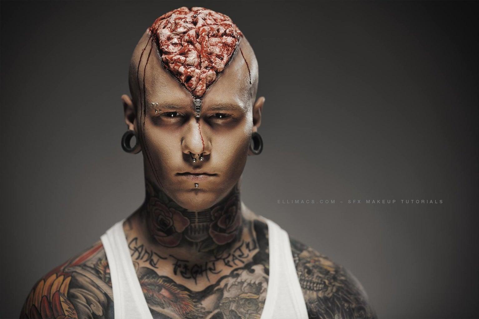 Zipper Brain - SFX Makeup Tutorial