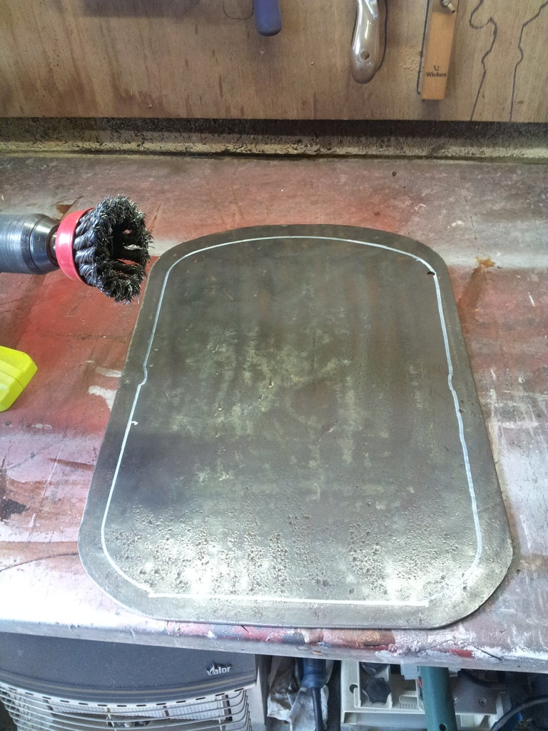 Cut Stove Top and End Plate.