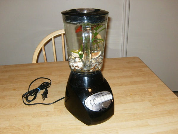 "The Fishtank Blender.  ""The Blender Tank"""