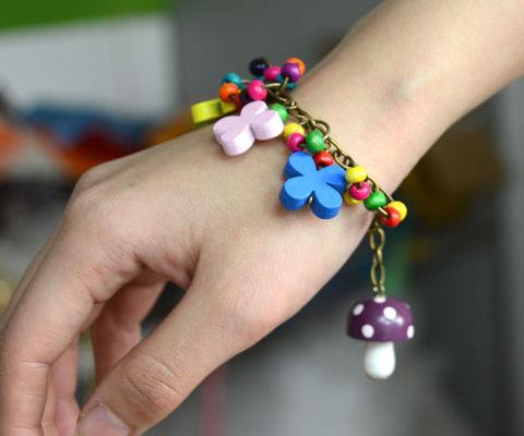 Floral Charm Bracelet for Kids