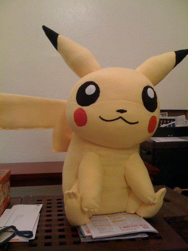 Giant Stuffed Pikachu
