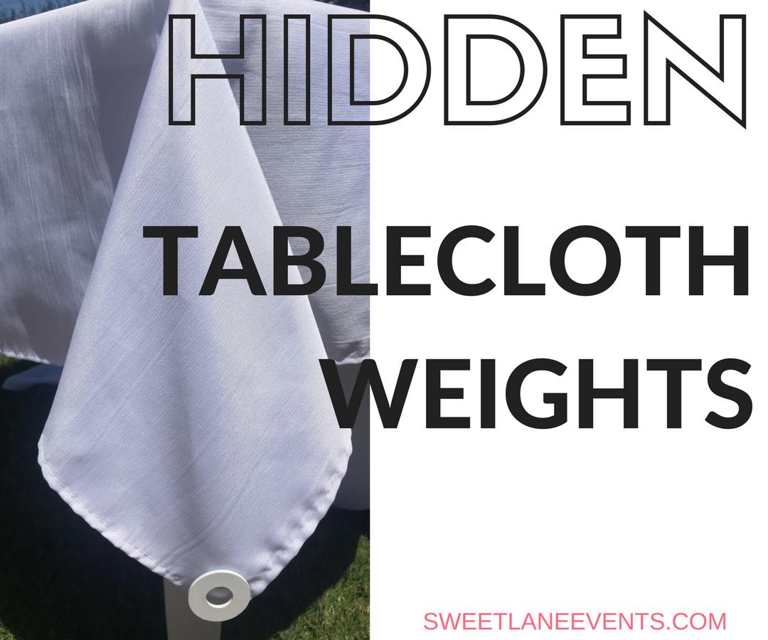 Hidden Tablecloth Weights