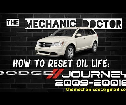 How to Reset Oil Life: Dodge Journey 2009-2016