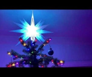 Wifi Moravian Star Christmas Tree Topper