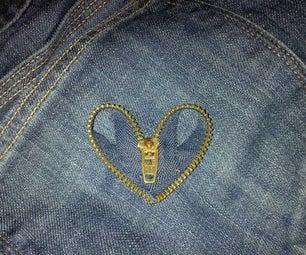 Zipper Heart Decoration