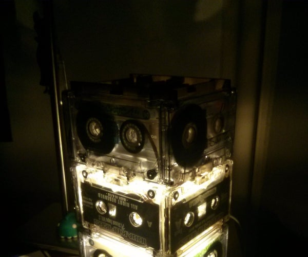 """""""Upcycled"""" Cassette Tape Lamp (Lasercutted)"""