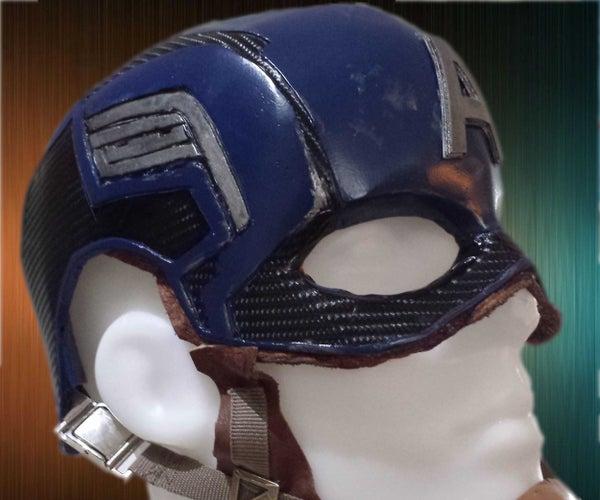 Captain America Helmet Using Many Materials.