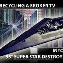 Upcycling a TV to HUGE Super Star Destroyer