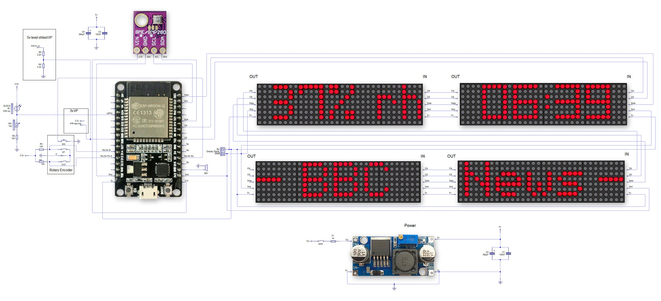 Schematic ESP32 30 Pin