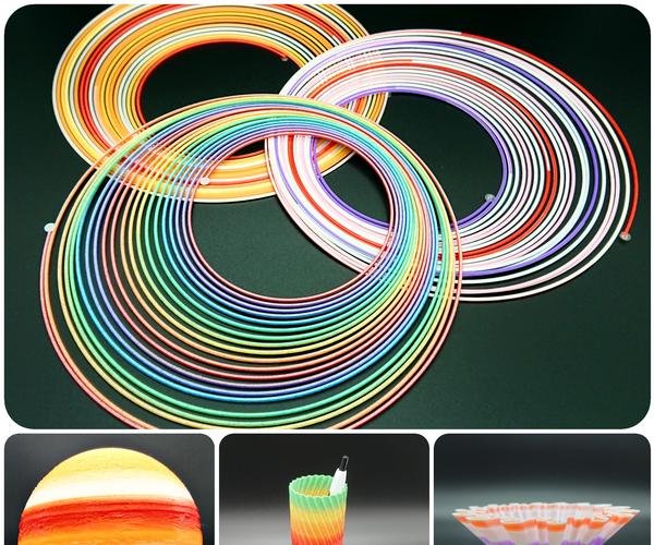 DIY Rainbow 3D Printing Filament