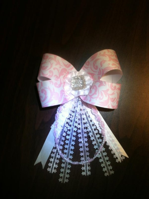 Hair Bow Made for a Girls Pageant