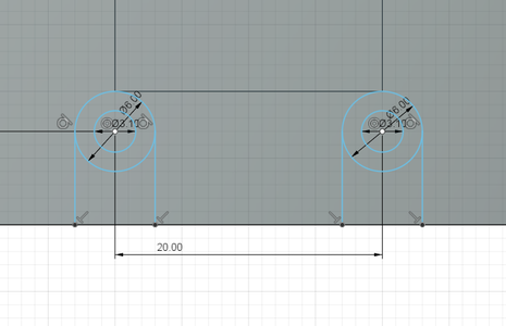 Design Process - Moving Fixture - Endstop Mounting Holes