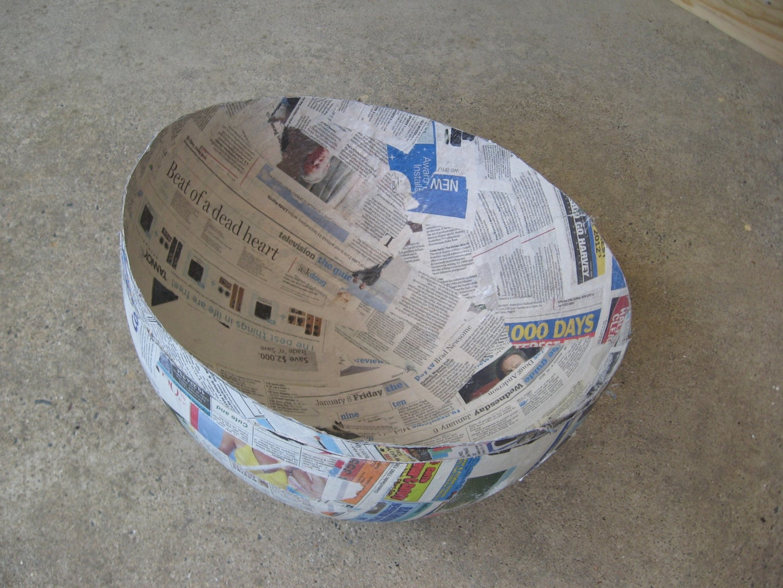 Paper Mache the Beach Balls