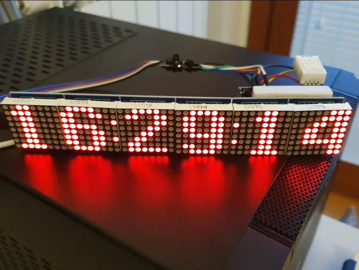 WiFi NodeMCU ESP8266 Google Clock