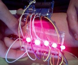 Arduino 1-12 Blinking Led Array