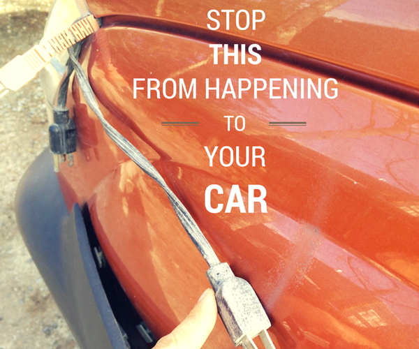 Keep Your Block Heater Plug From Scratching Your Paint