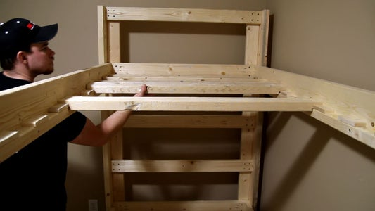 Easy And Strong 2x4 2x6 Bunk Bed 6 Steps With Pictures Instructables