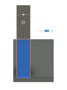 Design Process - Moving Load Cell Mount - Vertical Extrusion