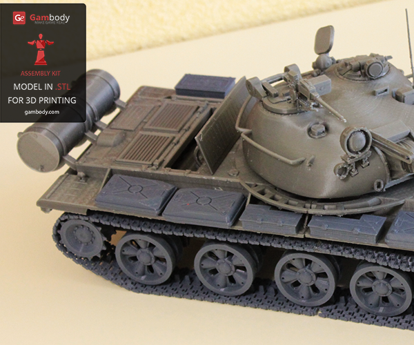 Modeling a workable T-62 3D Tank
