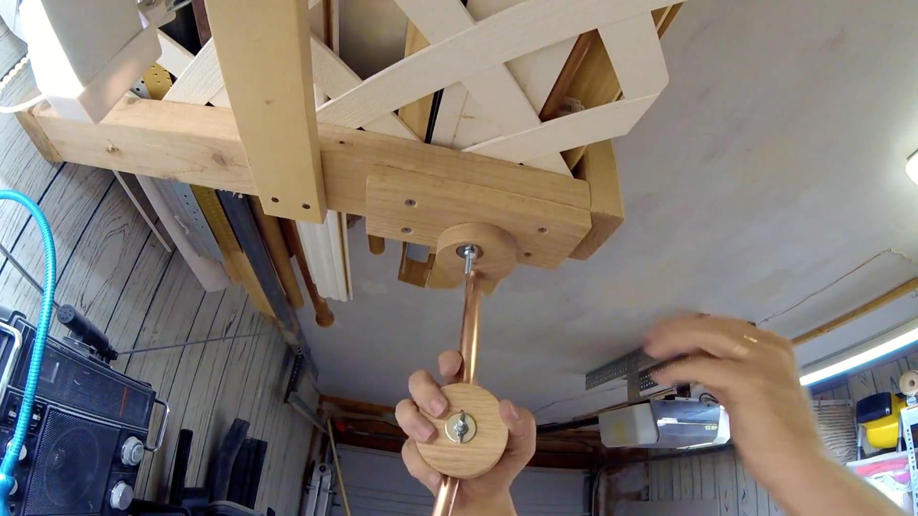 Attaching the Articulated Arm to the Ceiling
