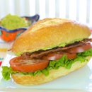 BLT With Avocado and Basil Mayonnaise
