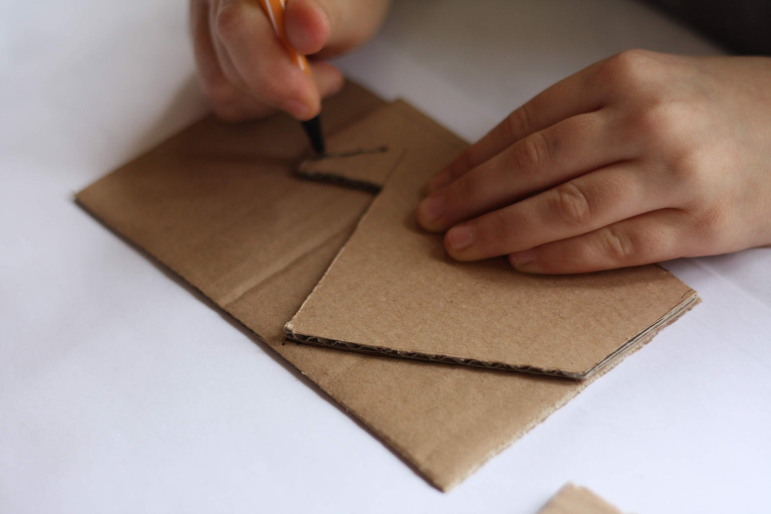 Step2: Cut Cardboard Stand