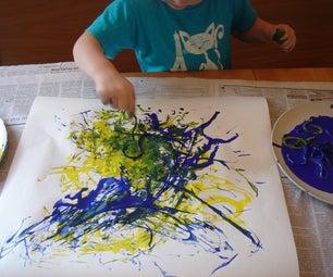 How to Use Spaghetti to Paint Like Jackson Pollock