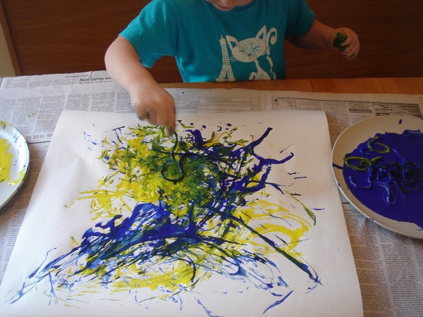 How to Use Spaghetti to Paint Like Jackson Pollock