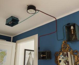 My Industrial Hallway Light Installation