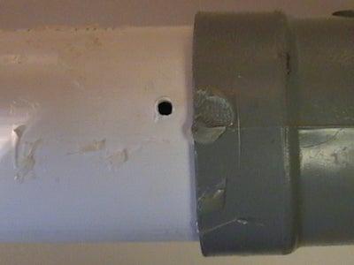 Put Hole in PVC