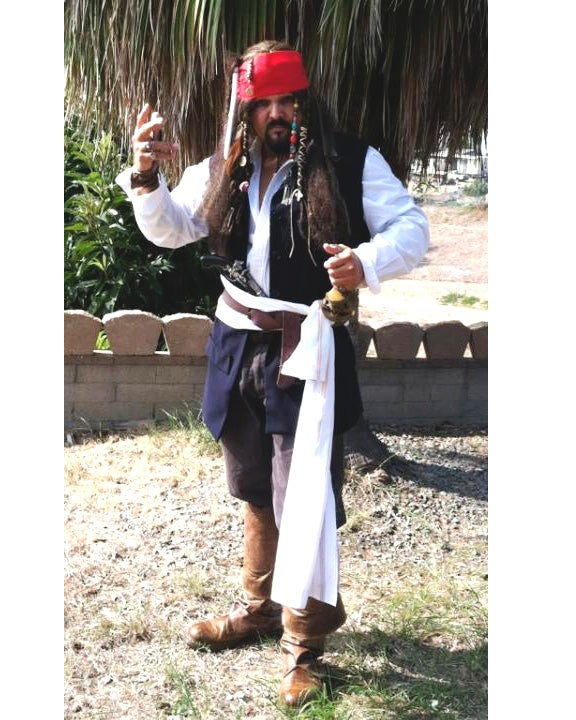How to Make a Captain Jack Sparrow Costume on a Shoe String Budget!