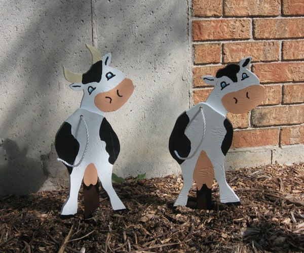 Cow & Bull Garden Ornament
