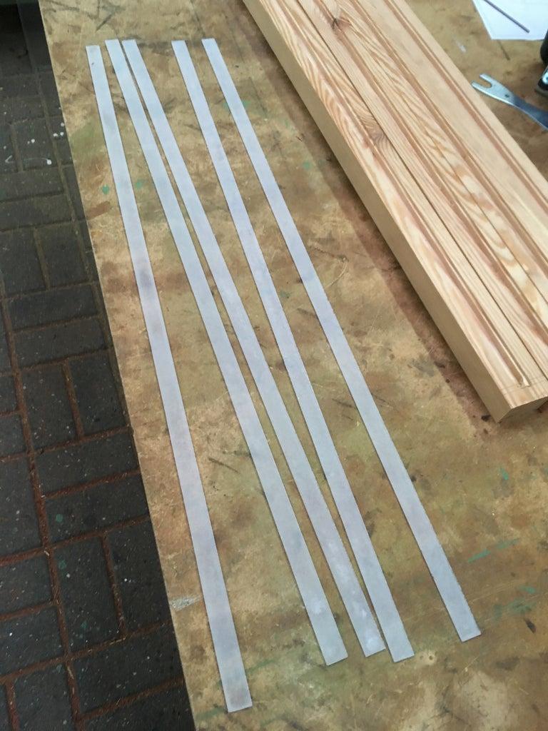 Strips of Plexiglass