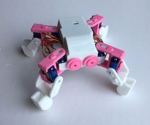 Ez Arduino MiniKame Mk2 - Making a 8 DOF 3D Print Quadruped Robot