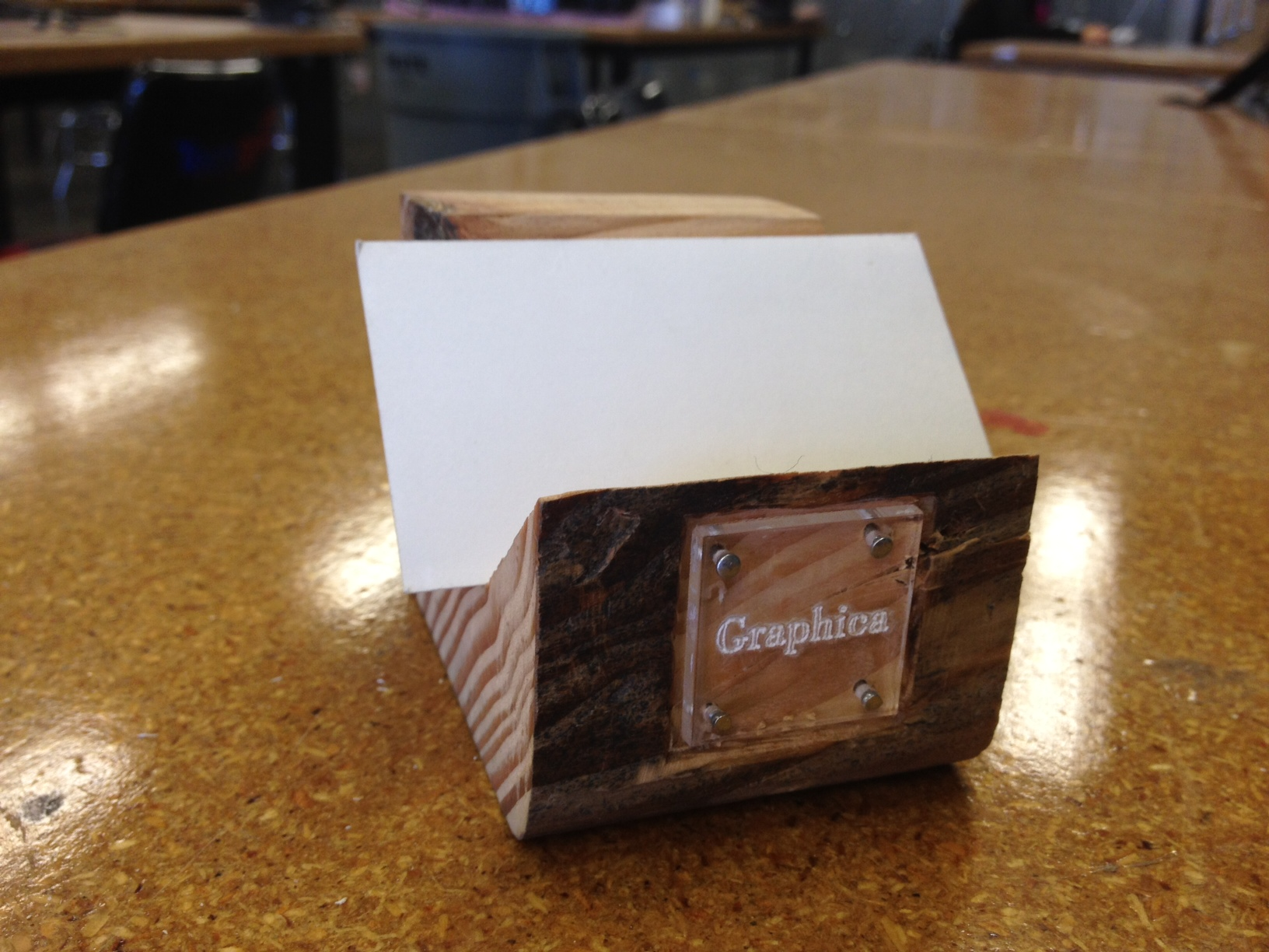 How to Make a Wooden Business Card Holder w/ Laser-cut Logo