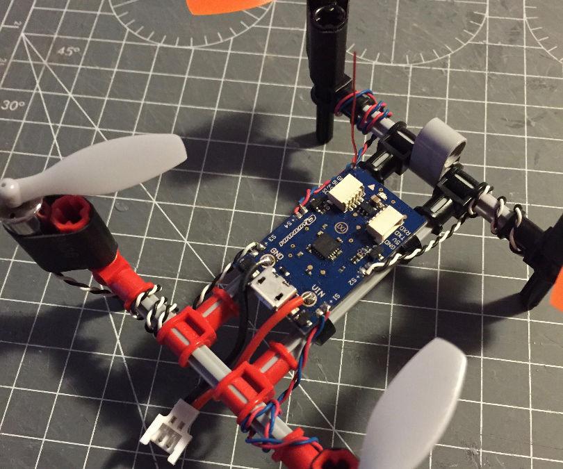 Super simple Lego Technic RC quadcopter